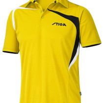 Table Tennis Clothing: Shirt Intense - Yellow/Black/White