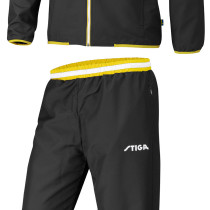 Table Tennis Clothing: Stiga Tracksuit Challenge - Black/Yellow/White