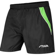 Table Tennis Clothing: Stiga Shorts Supreme - Black/Lime