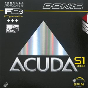 Table Tennis Rubber: Donic Acuda S1 Turbo