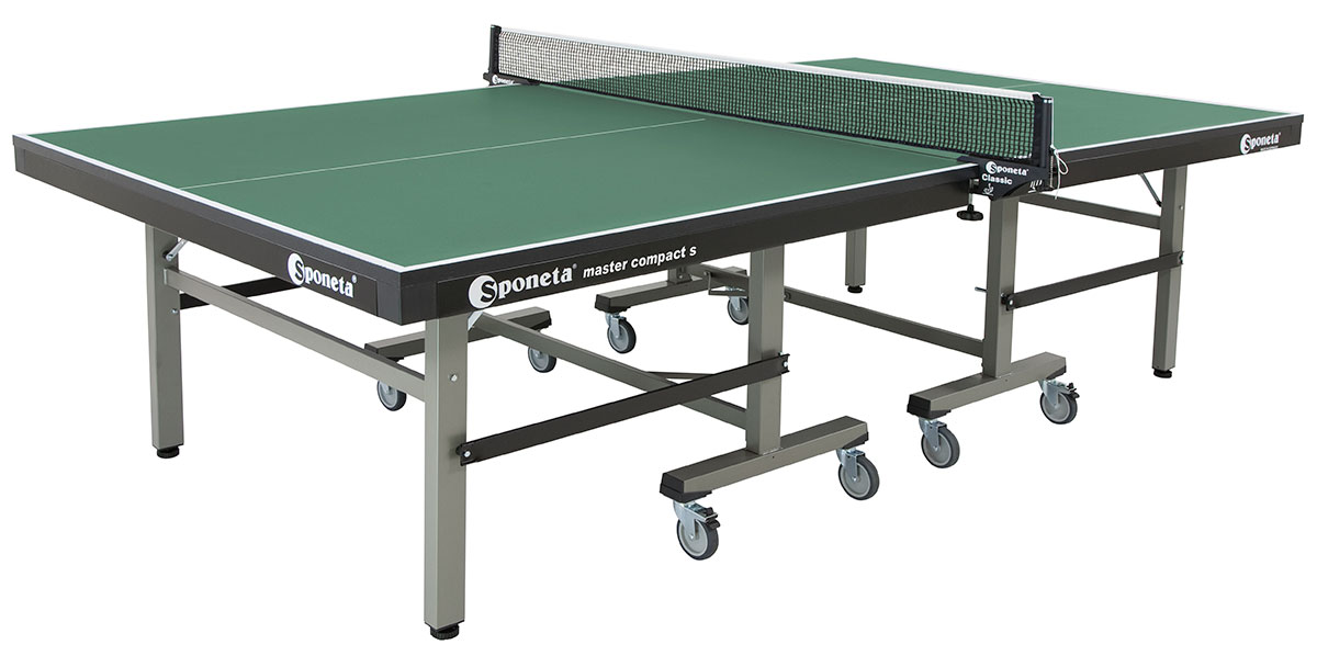 Table Tennis Table: Sponeta ProfiLine Master Compact Indoor S7 12   GREEN