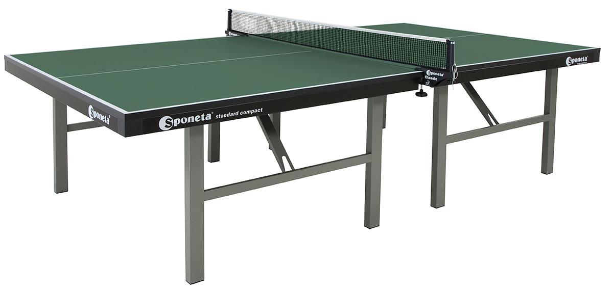 Table Tennis Table: Sponeta ProfiLine Compact Indoor S7 22i   GREEN
