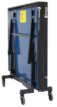 Table Tennis Table: Sponeta ChampionLine Super Compact Spacesaver Indoor S8-37i - BLUE