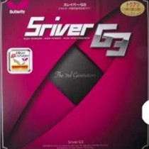 Table Tennis Rubber: Butterfly Sriver G3