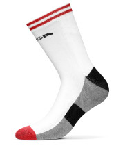 Table Tennis Footwear: Stiga Socks Line High Junior - Red