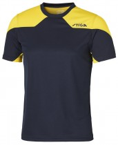 Stiga_Table_Tennis_Shirt_Nova Navy Yellow