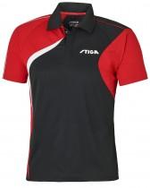 Stiga_Table_Tennis_Shirt_Voyage Black Red