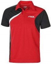 Stiga_Table_Tennis_Shirt_Voyage Red Black