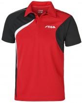 Stiga_Table_Tennis_Shirt_Voyage Red Black