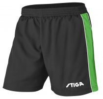 Stiga_Table_Tennis_Shorts_Lunar Black Green