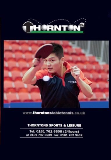 Thorntons Table Tennis Catalogue