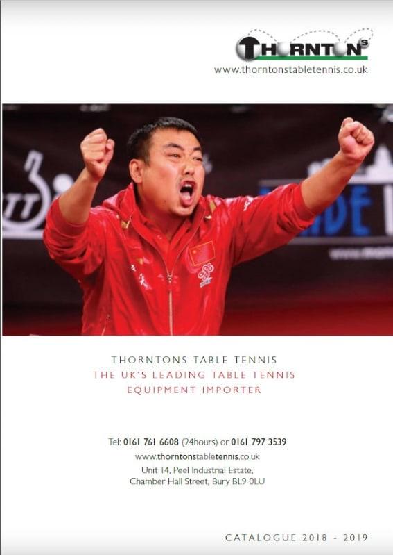 Thorntons Table Tennis Catalogue
